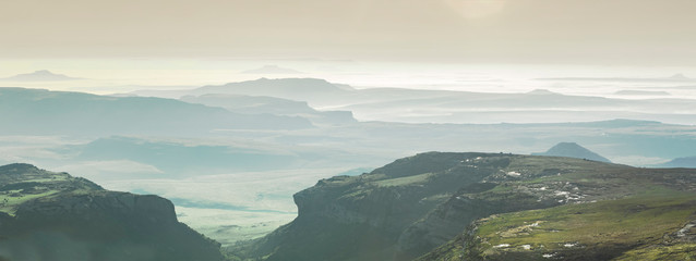 panorama of south africa mountains Wall mural