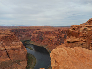 Staande foto Canyon a river in the grand canyon
