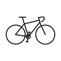 Rower szosowy logo wektor