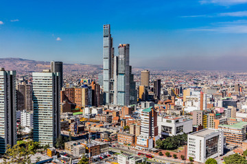 Fototapete - Bogota Skyline cityscape  capital city of Colombia South America
