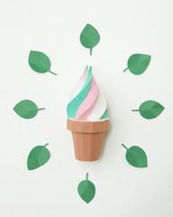 Craft multicolor ice cream