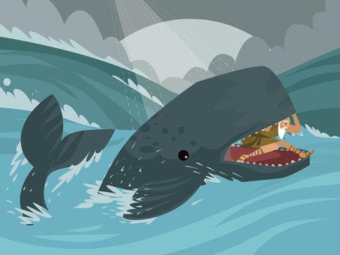 cachalot whale big fish in the sea