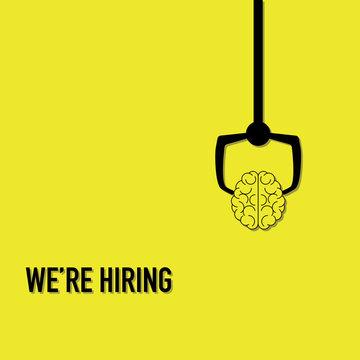 we are hiring advertisement choosing smart brain