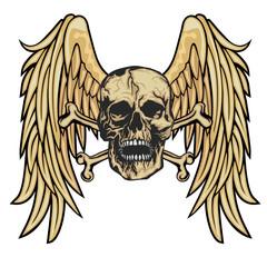 Gothic siskeleton,bone,halloween,death,horror,angel,gothic,cross,vampire,monster,pirate,zombie,killer,tattoo, dead,devil,satan,demon,day of thegn with skull with wings, grunge vintage design t shirts
