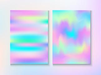 Blurred Invitation, Corporate Identity Vector Texture Set.