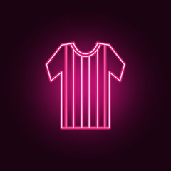 soccer jersey neon icon. Elements of Championship 2018 set. Simple icon for websites, web design, mobile app, info graphics