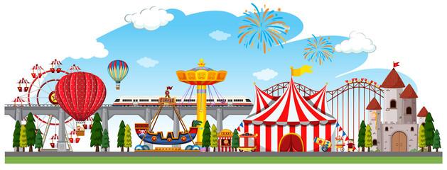 A circus panorama scene