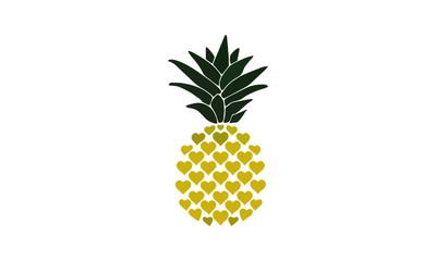 pineapple vector design illustration fruit summer Wall mural