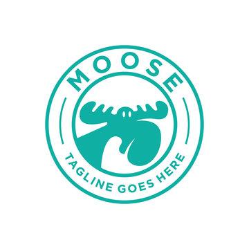 badge moose logo