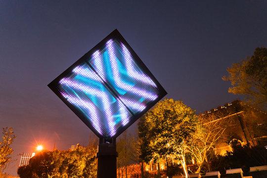 Empty digital billboard screen for advertising LED screen