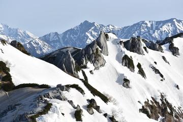 燕岳登山の風景と景色
