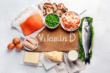 Fototapeta Foods rich in natural vitamin D obraz