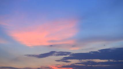 Door stickers Sunset Morning sunlight and sky orange blue purple colorful.