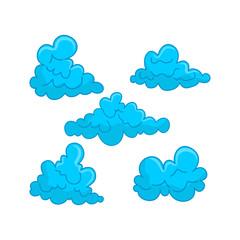 Cloud Blue Design Graphic Template Vector