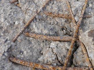 Aufgebrochener Stahlbeton