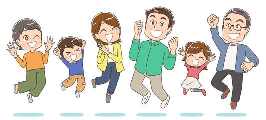 3世代家族 6人 ファミリー