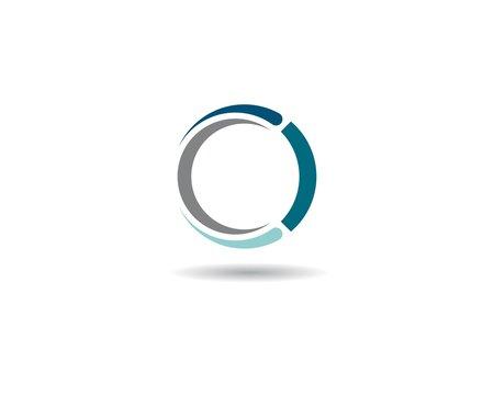 Circle symbol vector icon illustration