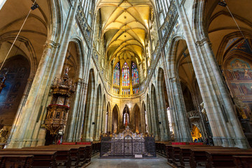 Prague, St. Vitus Cathedral, the nave Fototapete