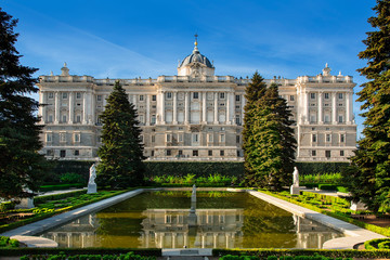 Spain, Madrid,  the royal palace
