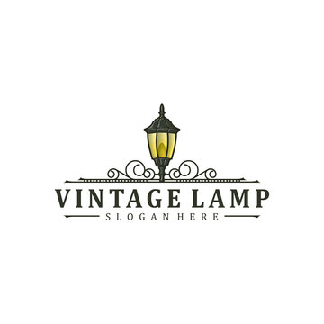 Vintage Lamp logo design