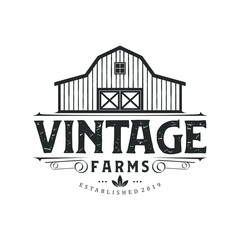 Vintage farm logo design