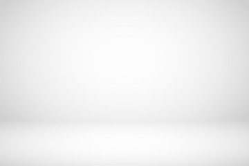 Empty white studio room abstract background