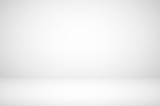 Empty white studio room abstract background