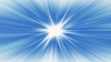 Blue radial radiant banner background glowing starburst