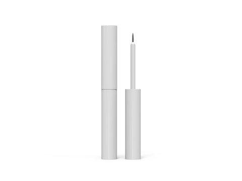 Eyeliner tube mockup isolated on white background, ready for your design presentation, 3d illustration