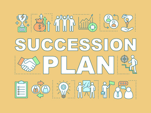 Succession plan word concepts banner