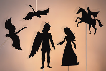 Wild swans storytelling, shadow puppets