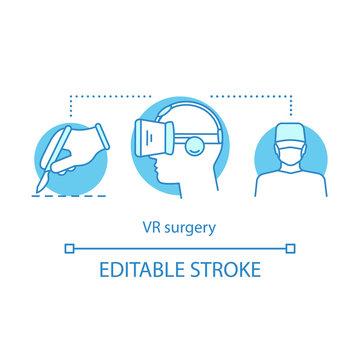 VR surgery concept icon