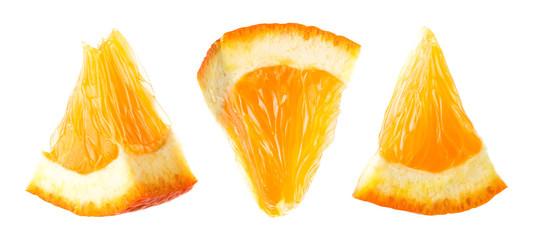 Orange slice. Orange fruit isolate. Orang set on white. Fotomurales