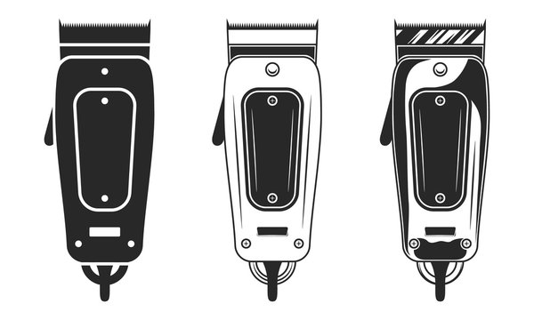 Haircut clipper. Vintage design. Abstract design elements for Barber shop, haircut's salon logo, emblem, label or poster. Vector illustration