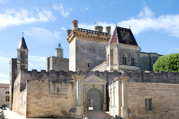 The castle of the dukes of Uzès in southern France Wall mural
