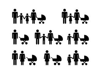 Fototapeta rodzina zestaw ikon obraz