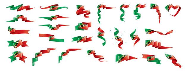 Saint Kitts and Nevis flag, vector illustration on a white background