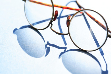 Old Spectacles With Shadow