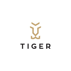 simple tiger logo design