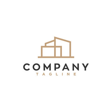 simple real estate logo design