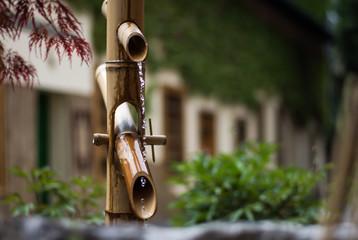 woda spokój ogród bambus równowaga