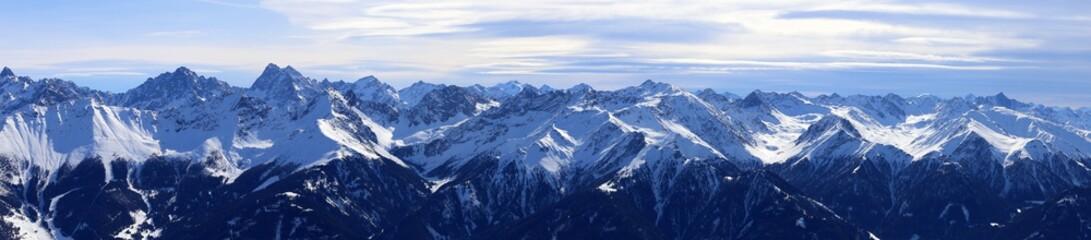 Alpenpanorama Winter