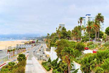 City views, Santa Monica streets - a suburb of Los Angeles. California.USA. Wall mural