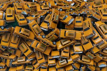 Many new york city nyc yellow taxi cab