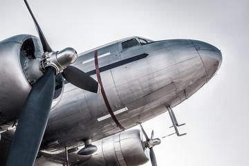 historical aircraft against the sky