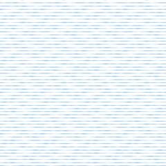 Blue hand drawn horizontal stripes seamless vector background