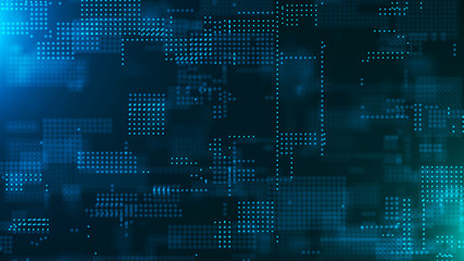 Abstract digital background. Science background. Technological background. Matrix. Binary Code. Falling dots.