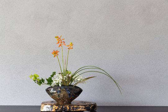 Japanese art of flower arrangement