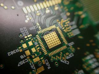 Photo sur Plexiglas Macro photographie Macro close up of PCB QFN footprint