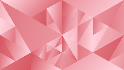Dynamic gradient mosaic triangular background - abstract polygonal color vector illustration
